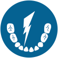 care-object-between-teeth-bright-blue